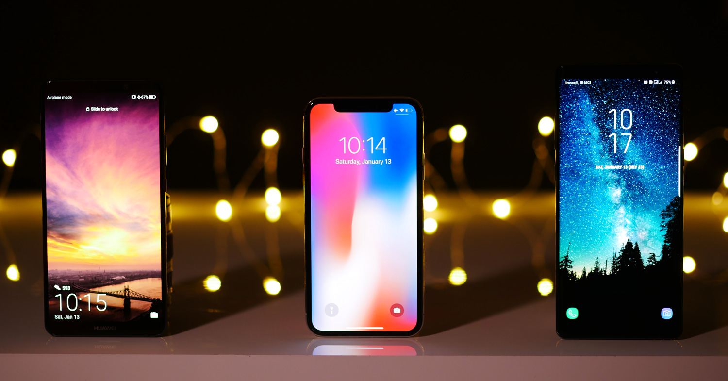 Apple iPhone X vs Samsung Galaxy Note 8 vs Mate 10 Pro