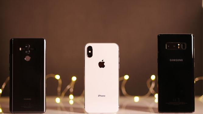 اولین مقایسه کیفیت مکالمه: هواوی میت 10 پرو، سامسونگ گلکسی نوت 8 و اپل آیفون X