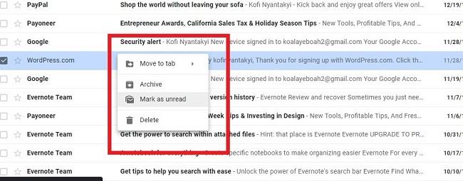 قابلیت جدید و بسیار مفید کلیک راست اختصاصی به Gmail اضافه شد