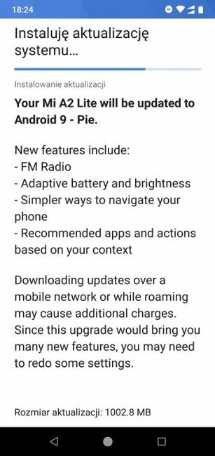 انتشار آپدیت اندروید 9 برای گوشیهای Mi A2 Lite شیائومی و Nokia 7.1 آغاز شد