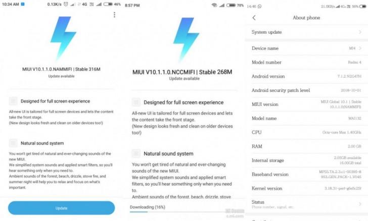 آپدیت MIUI 10 برای گوشیهای Redmi 4 و Redmi 4A شیائومی منتشر شد