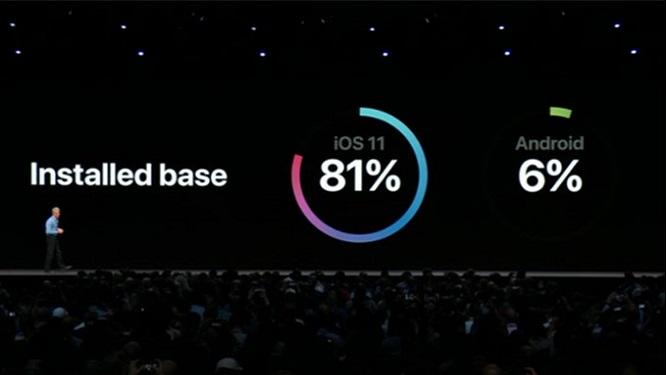 appleandroidmock 1 - اپل اندروید را تحقیر کرد،کند و پراکنده