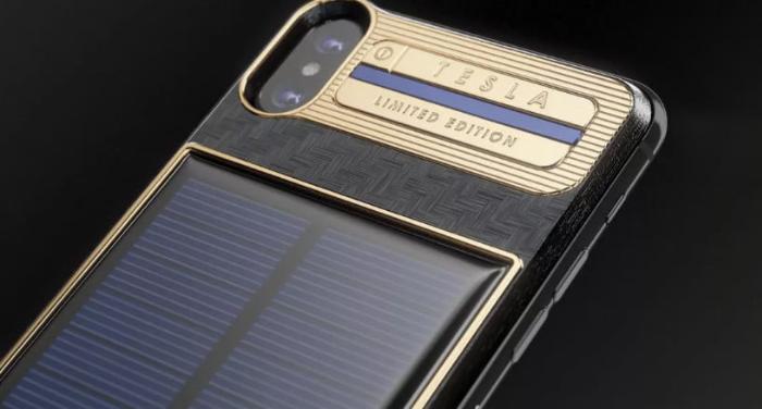 شارژر خورشیدی 4600 دلاری، تلفیقی از طلا و کربن به همراه آیفون X