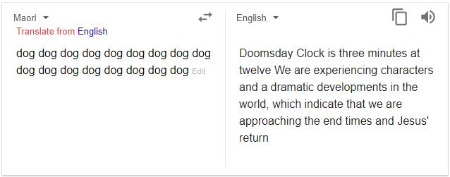 ترجمه های مرموز و آخرالزمانی گوگل