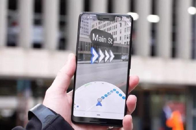 گوگل مپ با قابلیت مسیریابی واقعیت افزوده