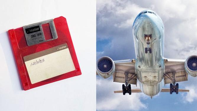 آیا باورتان میشود هواپیماهای غول پیکر هنوز از فلاپی دیسک استفاده میکنند؟!
