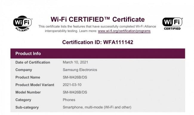 Samsung Galaxy M42 Wi-Fi certification.jpg